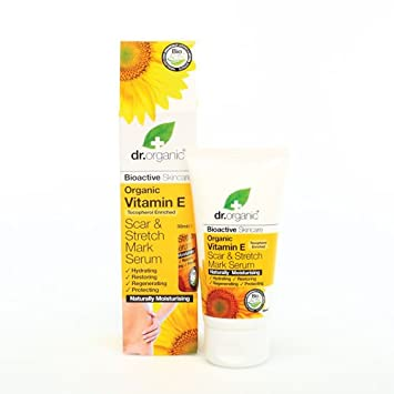 dr.organic vitamin E scar & stretch mark serum 50ml